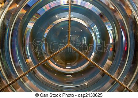 Stock Images of lighthouse fresnel lens.