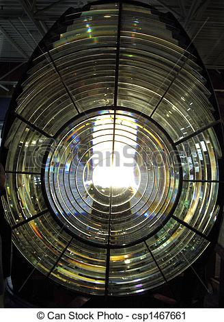 Stock Photography of Fresnel Lens, lighthouse.