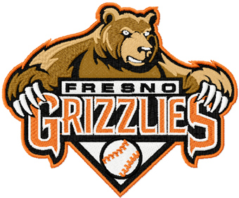 Fresno Grizzlies Logo embroidery design.