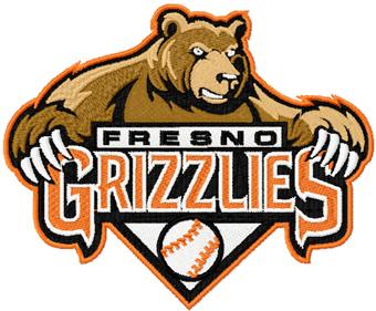 Fresno Grizzlies Logo embroidery design.