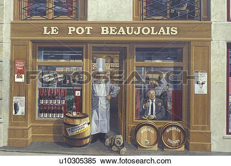 Stock Image of mural, fresque, Lyon, France, Rhone.