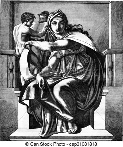 Clipart de delphic, sibyl, michel.