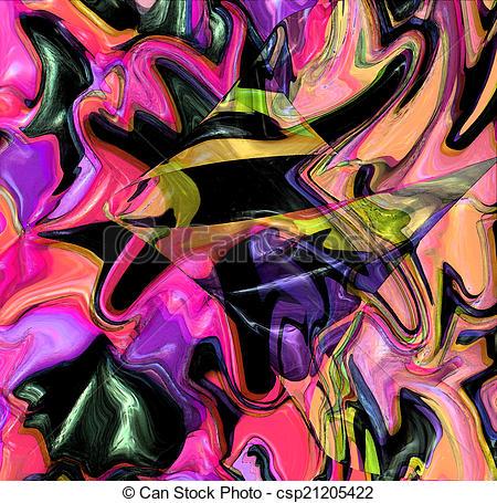 Clip Art de résumé, fresque, coloré, fond.