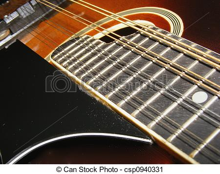 Stock Photography of Guitar Frets.