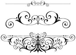 fancy scrolls scrollwork clipart vector fretwork swirls accents.