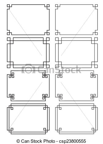 Stock Illustrations of Fretwork Frames csp23800555.