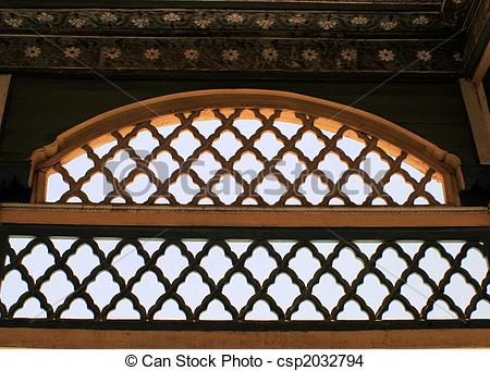 Stock Photo of Wooden fretwork csp2032794.