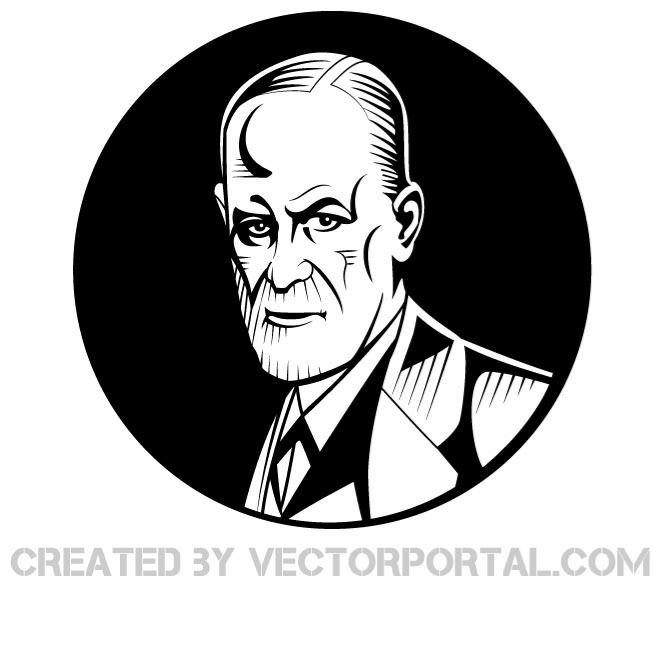 SIGMUND FREUD VECTOR PORTRAIT.