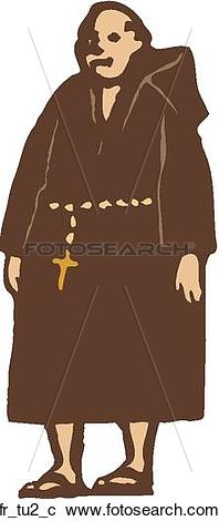 Clipart of Friar Tuck fr_tu2_c.