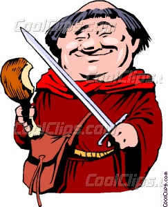 Cartoon Friar Tuck Vector Clip art.