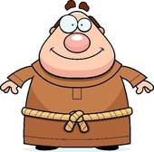 Clipart of Friar Smiling k3705331.