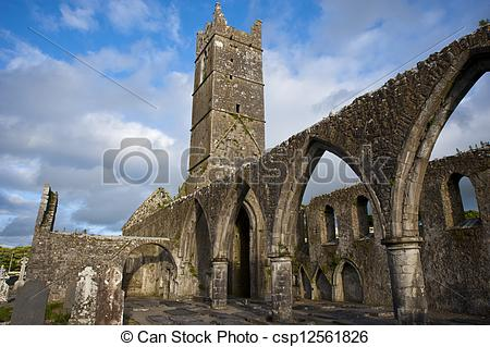 Stock Photo of Claregalway Friary.