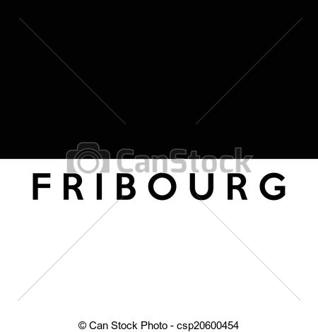 Stock Illustrations of Flag of Canton of fribourg Switzerland.