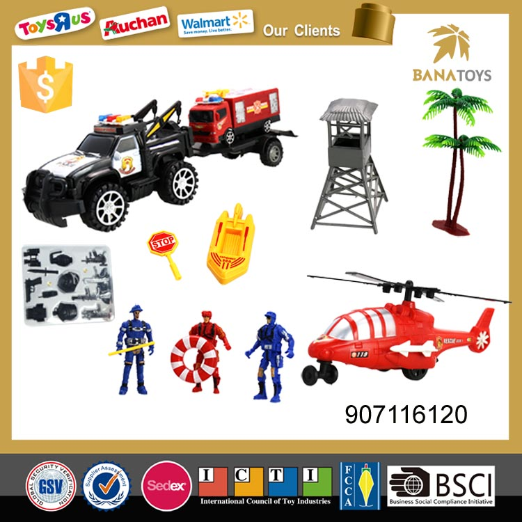 Wholesale Excellent friction bobby car with plane and carriage.