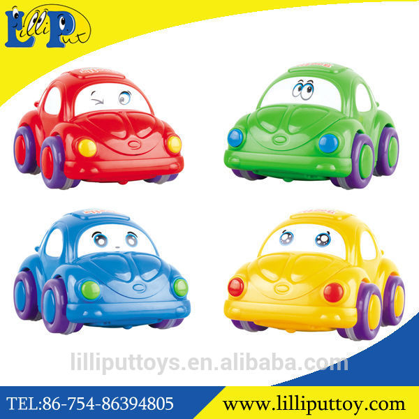 Beetle Cartoon Toys Small Plastic Friction Toy Car.