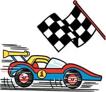 Fast car cartoon clipart.