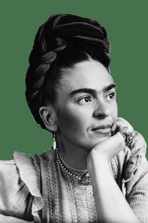 Frida Kahlo Daydreaming transparent PNG.