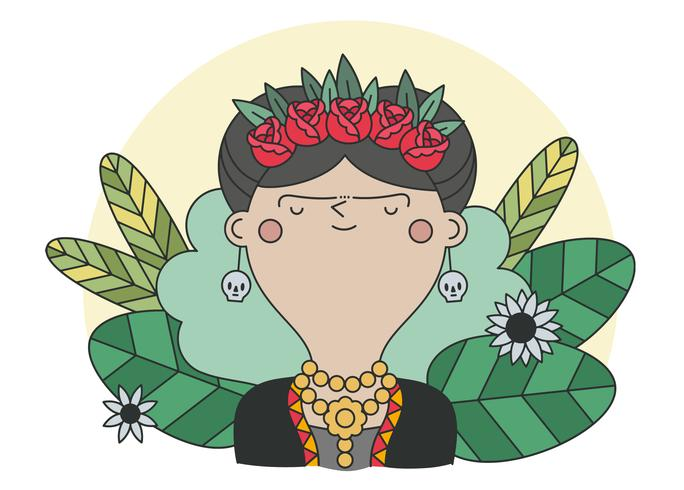 Frida Kahlo Vector.