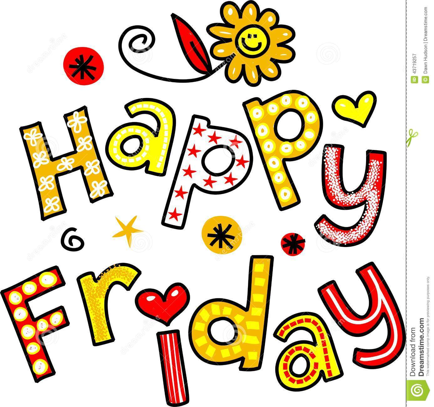 Happy Friday Animated Clipart.