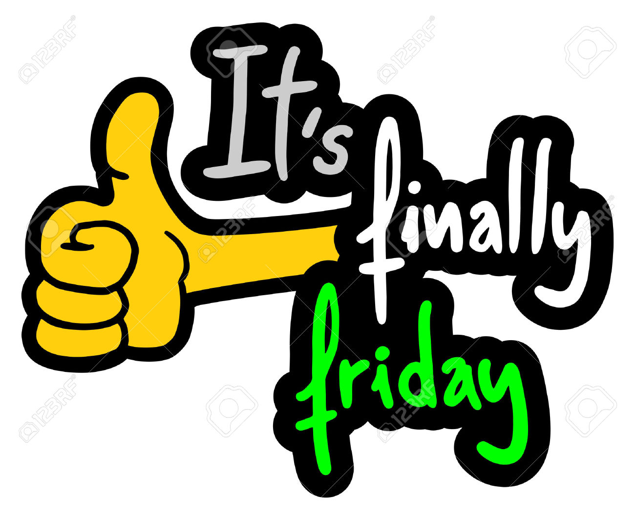 409 Happy Friday free clipart.