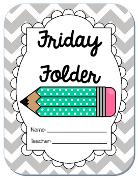 Friday Folder Cover Worksheets & Teaching Resources.