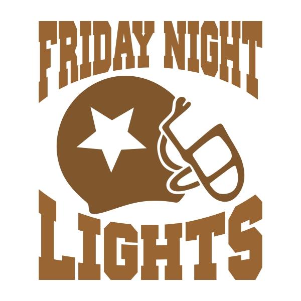 Friday Night Lights Football SVG Cuttable Design.