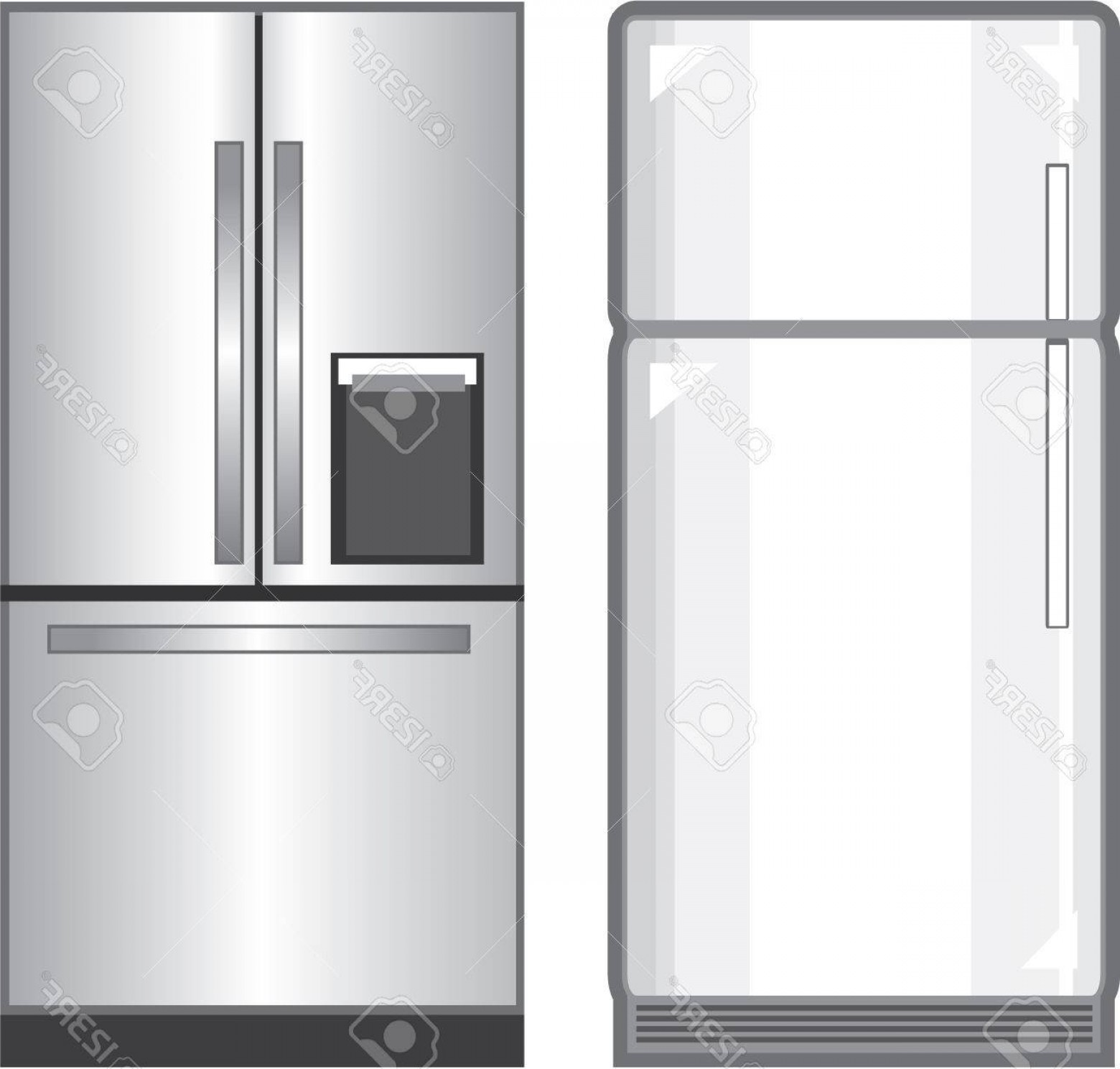 Photostock Vector Refrigerator Illustration Clip Art Image Vector.