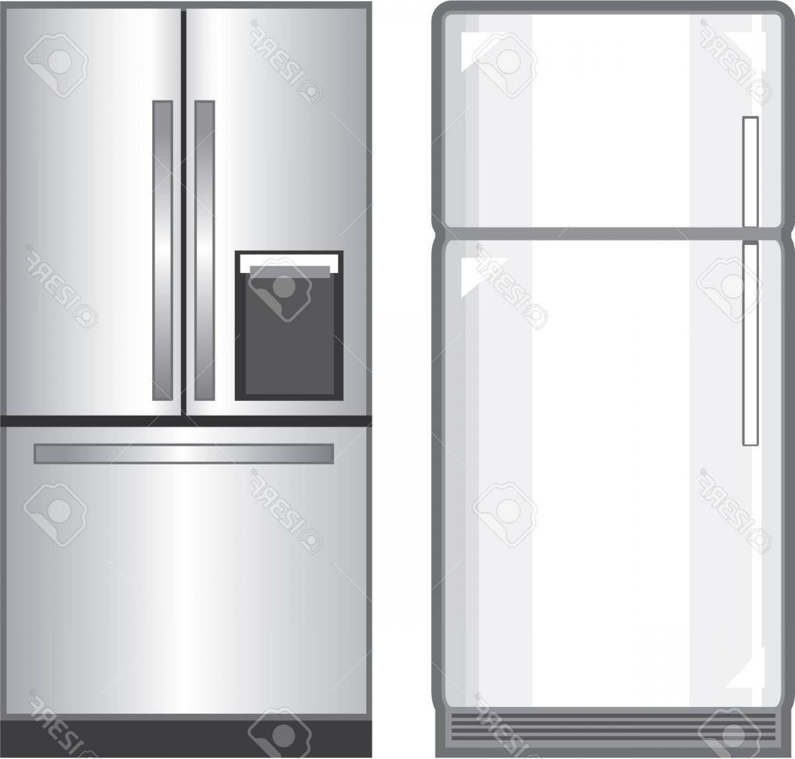 Photostock Vector Refrigerator Illustration Clip Art Image Vector.