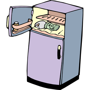Collection of Fridge clipart.