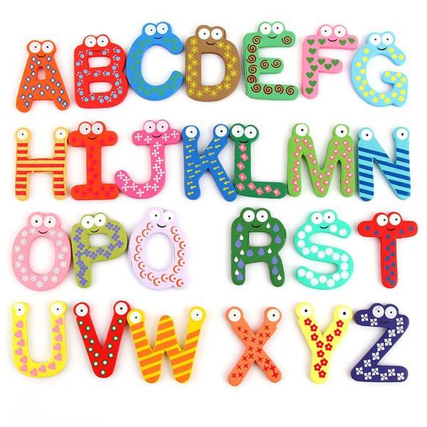 Creative Wooden Fridge Magnet Letters Refrigerator Sticker Cartoon  Refrigerator Magnets Wooden Fridge Magnet Stickers Fashion Gifts Fun Fridge  Magnets.
