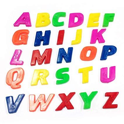 Wintefei 26Pcs Lower/Upper Case Alphabet Letters Number Fridge Magnet Kid  Learning Toy.