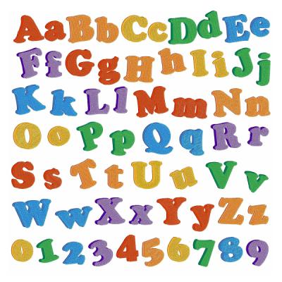 Fridge Magnet Font Embroidery Font PNG.