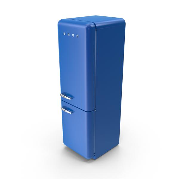 Smeg Dark Blue Refrigerator PNG Images & PSDs for Download.