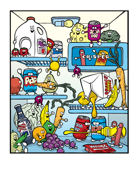 Cleaning Refrigerator Smelly Clipart.