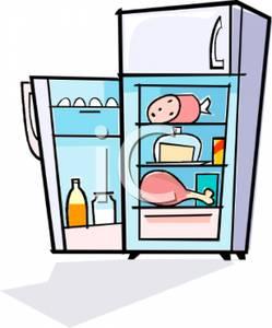 Cartoon refrigerator clipart.