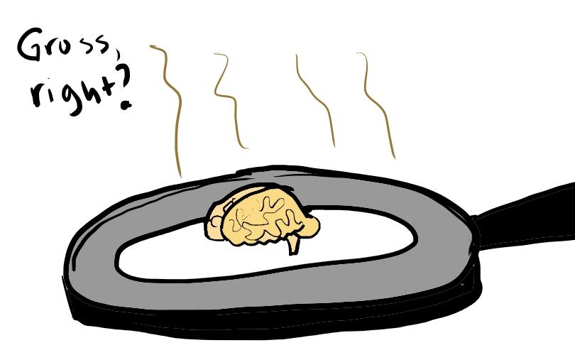 The Word is My Oyster: Fried Brain Break..