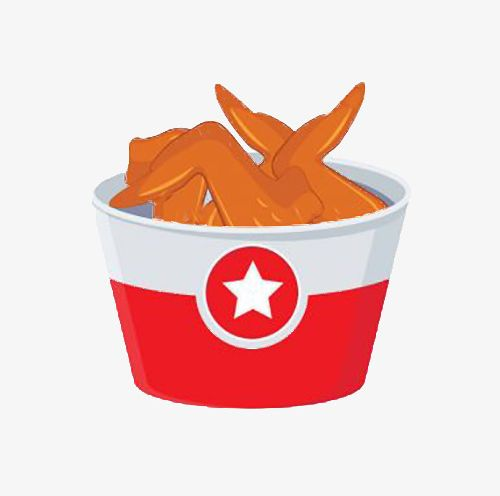 A Bucket Of Fried Chicken Wings PNG, Clipart, A Clipart.