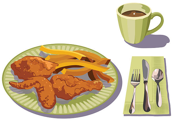 Fried chicken dinner clipart 1 » Clipart Station.
