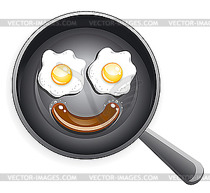 Egg In A Frying Pan Clipart.
