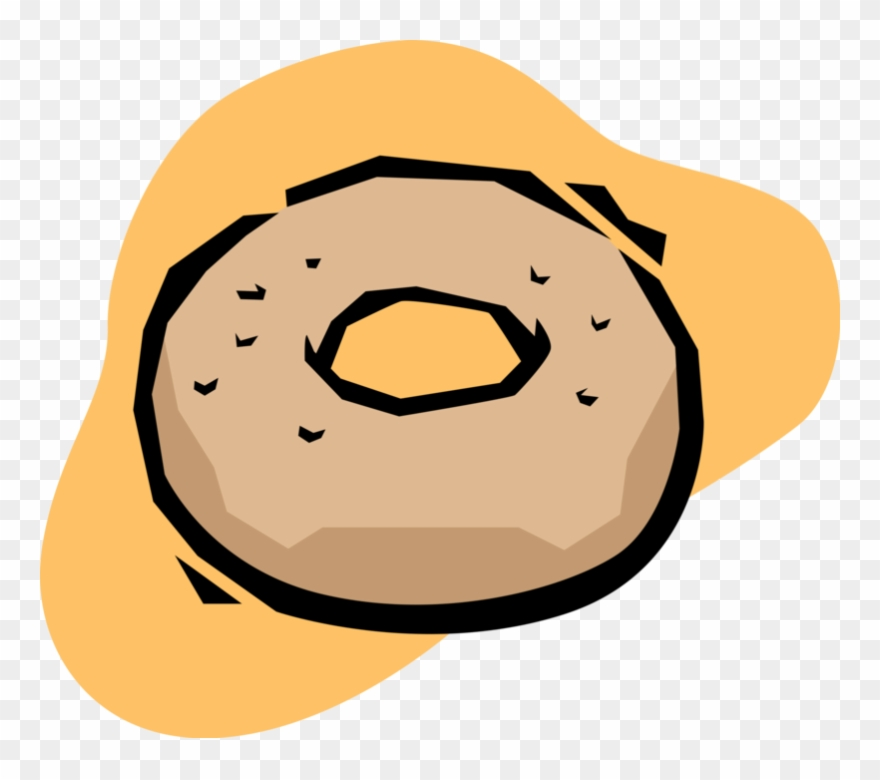 Vector Illustration Of Sweetened Fried Dough Donut Clipart.
