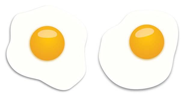 Best Fried Egg Illustrations, Royalty.