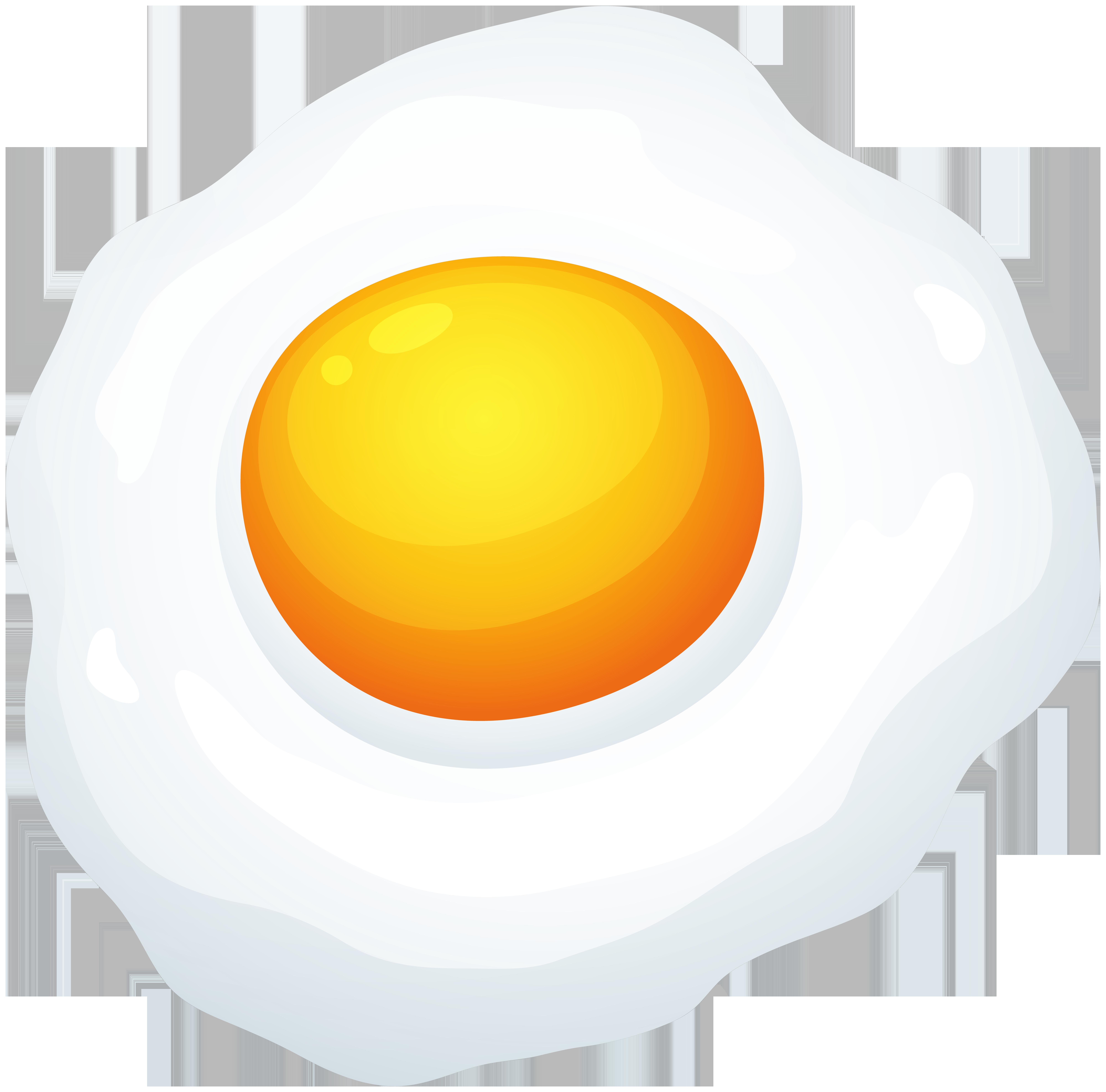 Fried Egg PNG Clip Art Image.