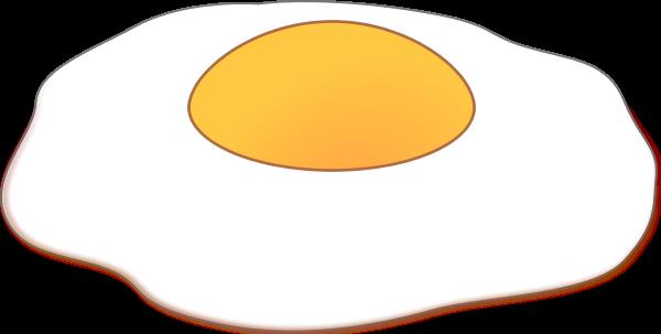 Fried egg vector clip art.