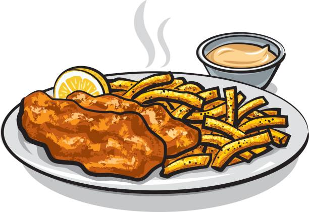 Best Fried Fish Illustrations, Royalty.