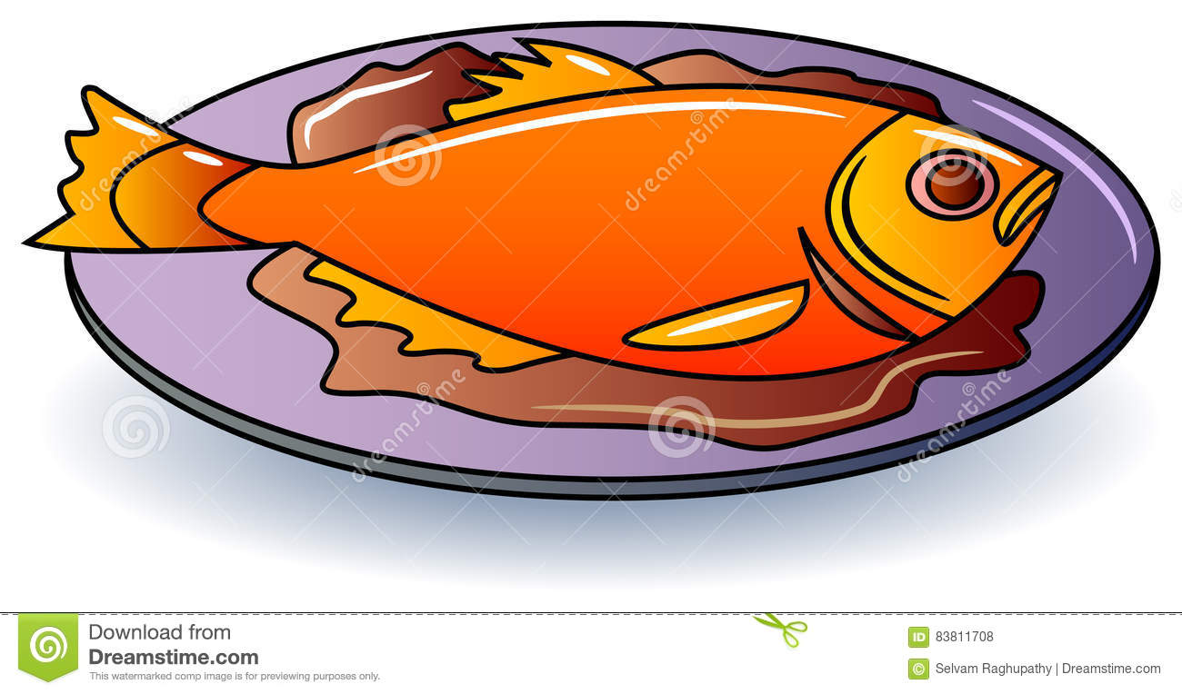 Fish food stock vector. Illustration of illustration.