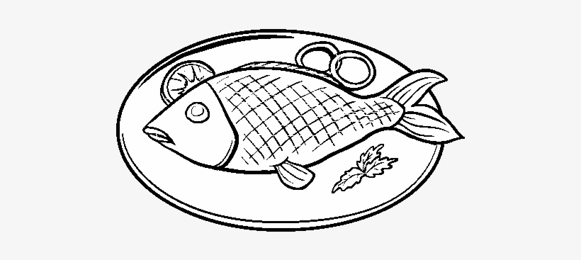 Plates Clipart Fried Fish.