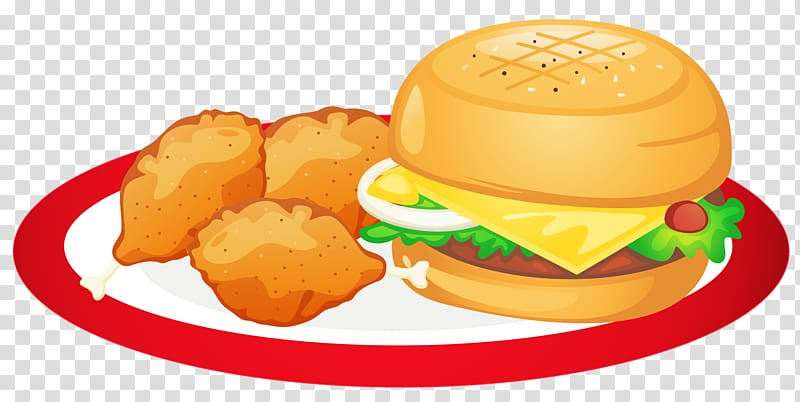 Hamburger and fried foods illustration, Hamburger Indian.