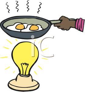 Fried Eggs Over a Light Bulb.