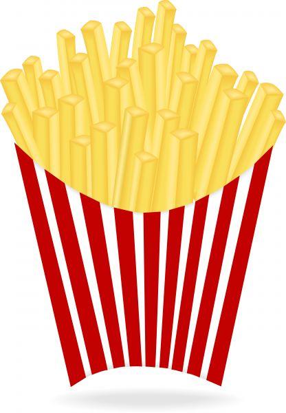 Potato fries clipart - Clipground