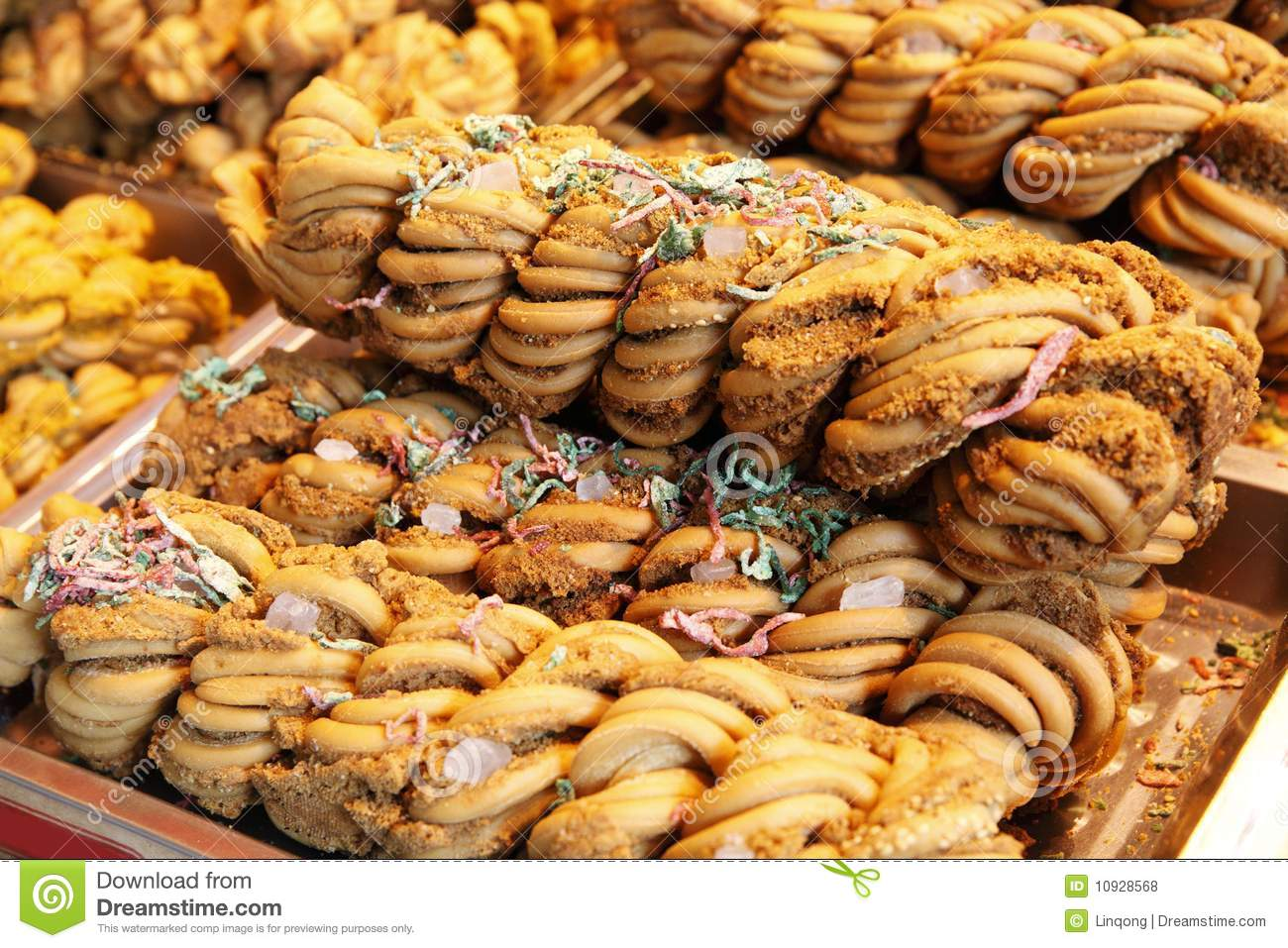 Chinese Fried Dough Twist Stock Photo.